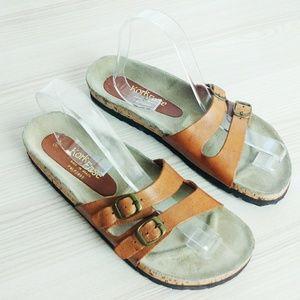 Kork Ease sandals. Made in Brazil.